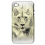 Animal Lion Hunting For Love Apple iPhone 4/4S Hardshell Case (PC+Silicone)