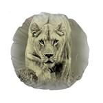 Animal Lion Hunting For Love 15  Premium Round Cushion