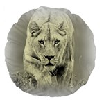 Animal Lion Hunting For Love 18  Premium Round Cushion