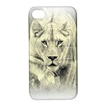 Animal Lion Hunting For Love Apple iPhone 4/4S Hardshell Case with Stand