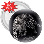 Animal Leopard 3  Button (100 pack)