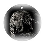 Animal Leopard Round Ornament (Two Sides)