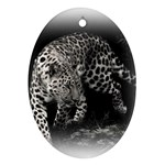 Animal Leopard Oval Ornament (Two Sides)