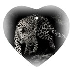 Animal Leopard Heart Ornament (Two Sides)