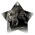 Animal Leopard Star Ornament (Two Sides)