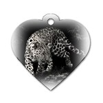 Animal Leopard Dog Tag Heart (One Side)