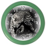 Animal Leopard Color Wall Clock