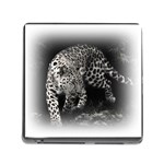 Animal Leopard Memory Card Reader with Storage (Square)