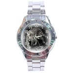 Animal Leopard Stainless Steel Analogue Men's Watch