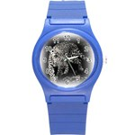 Animal Leopard Round Plastic Sport Watch Small