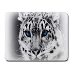 Animal Leopard In Snow Small Mousepad
