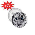 Animal Leopard In Snow 1.75  Button (10 pack)