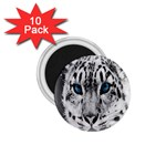Animal Leopard In Snow 1.75  Magnet (10 pack)