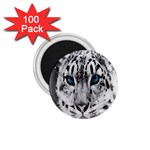 Animal Leopard In Snow 1.75  Magnet (100 pack)
