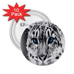Animal Leopard In Snow 2.25  Button (10 pack)