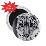 Animal Leopard In Snow 2.25  Magnet (10 pack)