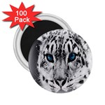Animal Leopard In Snow 2.25  Magnet (100 pack)