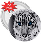 Animal Leopard In Snow 3  Button (100 pack)