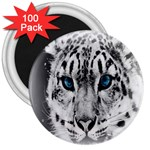 Animal Leopard In Snow 3  Magnet (100 pack)