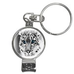 Animal Leopard In Snow Nail Clippers Key Chain