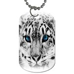 Animal Leopard In Snow Dog Tag (One Side)