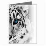 Animal Leopard In Snow Greeting Card