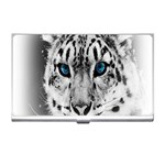 Animal Leopard In Snow Business Card Holder