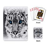 Animal Leopard In Snow Playing Cards Single Design