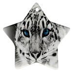 Animal Leopard In Snow Star Ornament (Two Sides)