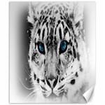 Animal Leopard In Snow Canvas 20  x 24