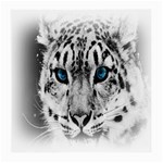 Animal Leopard In Snow Glasses Cloth (Medium, Two Sides)