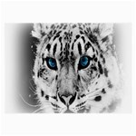 Animal Leopard In Snow Glasses Cloth (Large, Two Sides)