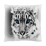 Animal Leopard In Snow Cushion Case (Two Sides)