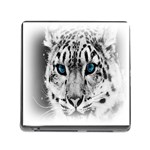 Animal Leopard In Snow Memory Card Reader with Storage (Square)