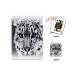 Animal Leopard In Snow Playing Cards (Mini)