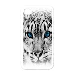 Animal Leopard In Snow Apple iPhone 4 Case (White)