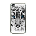 Animal Leopard In Snow Apple iPhone 4 Case (Clear)