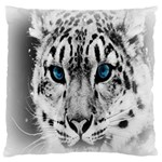 Animal Leopard In Snow Large Cushion Case (Two Sides)