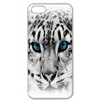Animal Leopard In Snow Apple Seamless iPhone 5 Case (Clear)