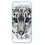 Animal Leopard In Snow Apple Seamless iPhone 5 Case (Color)