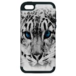 Animal Leopard In Snow Apple iPhone 5 Hardshell Case (PC+Silicone)