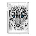 Animal Leopard In Snow Apple iPad Mini Case (White)