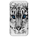 Animal Leopard In Snow Apple iPhone 4/4S Hardshell Case (PC+Silicone)