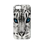 Animal Leopard In Snow Apple iPhone 5 Classic Hardshell Case (PC+Silicone)