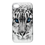 Animal Leopard In Snow Apple iPhone 4/4S Hardshell Case with Stand