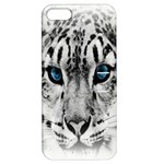 Animal Leopard In Snow Apple iPhone 5 Hardshell Case with Stand