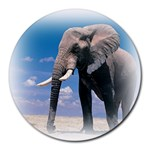 Animals Elephants Lonely But Strong Round Mousepad