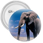 Animals Elephants Lonely But Strong 3  Button