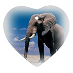 Animals Elephants Lonely But Strong Ornament (Heart)