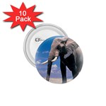 Animals Elephants Lonely But Strong 1.75  Button (10 pack)
